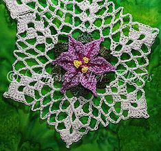 Spring Star Flower Snowflake pattern by Deborah Atkinson