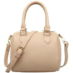 FASH Charming Bowling Handbag Style Barrel Office Purse Shoulder... ($18) ❤ liked on Polyvore featuring bags, handbags, shoulder bags, beige shoulder bag, handbags purses, shoulder bag purse, man shoulder bag and beige handbags