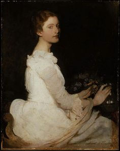 Abbott Handerson Thayer - Girl in White, Margaret Greene, about 1888
