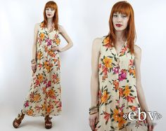 #Vintage #90s Victoria's Secret #Floral #Maxi #Dress, fits S/M by #shopEBV http://etsy.me/1OrgnkU via @Etsy #spring #summer #fashion #style