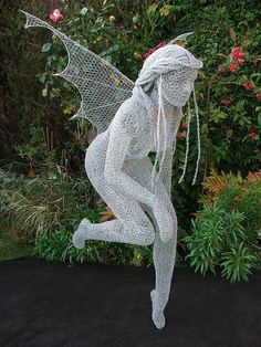 "Derek Kinzett Wire Sculptures. ""Sprite In Flight"" by Derek Kinzett Wire Sculptures, via Flickr"