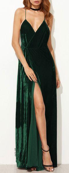 Strappy Backless Wrap Velvet Dress #homecomingdresses