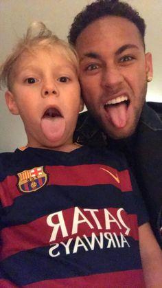 Neymar Jr with son