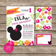 DIY Minnie Mouse Luau Invitation Kit  Invite by lovelylittleparty, $15.00