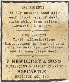 Toad Doctor back label