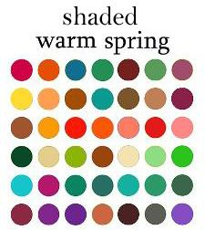 Shaded Warm Spring - - These colors have BLACK added to hues