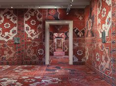 rudolf stingel covers palazzo grassi's interior in carpet, venice, italy - designboom | architecture & design magazine