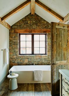 With just a little more on some of the other walls, this would be near perfect. Love the stone indoors.