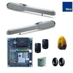 automatizari porti batante 2x3.5m Nice Wingokit 3524 kce,Wingo3524kce cu fotocelule si lampa