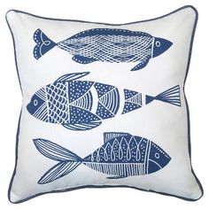 Outdoor Pillow - Blue Fish - Threshold™ : Target