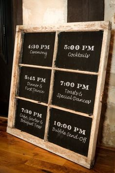 A Wonderfully Rustic Wedding – Beautiful, rustic wedding sign with the wedding schedule! Perfect for a woodsy or country wedding. Wedding Humor, Wedding Tips, Fall Wedding, Diy Wedding, Wedding Planning, Dream Wedding, Trendy Wedding, Wedding Blog, Wedding Trends