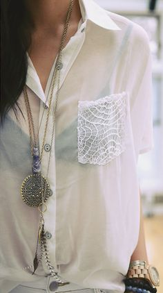 DIY CLOTHING INSPO | Lace Pocket