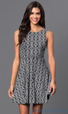 Glitter Print Short Dress with Cut Out Back - Brought to you by Avarsha.com