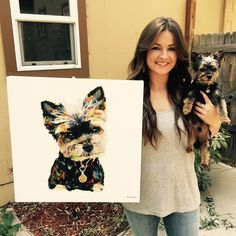 Need a gift for the dog-lover in your life? Our custom, hand-painted pet portraits are sure to bring a smile to anyone's face. Order now for a one-of-a-kind gift for your loved one.