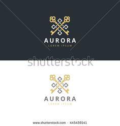 Real estate logotype. Keys logo icon design. Premium logo.