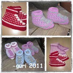 Hjerte GO`H Design: Bosnia-tøfler til de små Slipper Socks, Slippers, Newborn Shoes, H Design, Baby Boots, Bosnia, Knitting, Barn, Womens Fashion