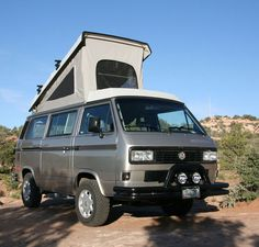 1991 VW Vanagon Syncro for sale, with it's camper up