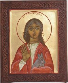 Icon of St. Melangell of Wales, January 31 & May 4