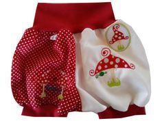 Baby - Pumphose - kurz - Pilze von Me Kinderkleidung auf DaWanda.com