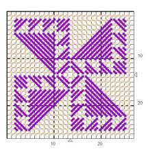 P. Canvas quilt pattern-coaster