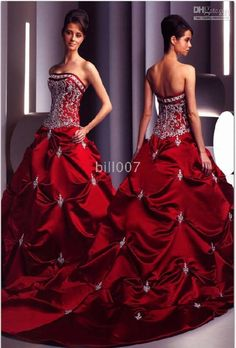 Red.. maybe a little to fancy for my quincenera but still freaking adorable!