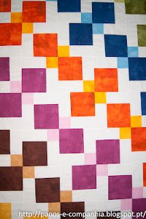 Disappearing 9-patch variation- color only in corners & center square. Plan those colors!