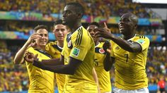 Colombia celebrate another impressive victory.
