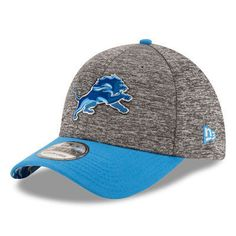 9c582610d07 NFL New Era Detroit Lions Men s Heathered Gray Blue 2016 NFL Draft 39THIRTY  Flex Hat