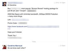 Two for the price of one in my Facebook inbox today. You have to admit that these spammers indirectly begged to be featured on this blog. ;-)