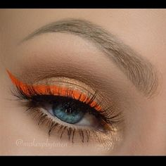 Orange Wing by @makeupbytaren