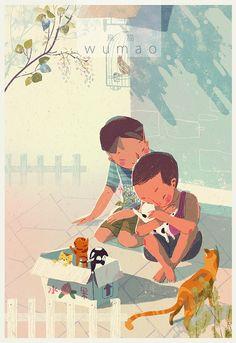 ARTIST SPOTLIGHT: Caver Zhang. We are Brother > super cute #illustration #art