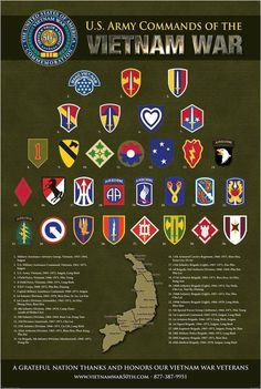 Various units in Vietnam. #VietnamWarMemories
