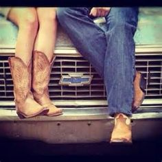 cute country couple cowboy boots,  Think this would be one for Melanie and her boyfriend pics :)