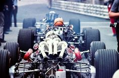 FORTY cylinders in one 3-car image Amon (Ferrari 312), Spence (BRM P83) & Surtees (Honda RA300)!