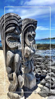 Big Island  °so ursprünglich und mit solcher Naturgewalten. Die Vulkaninsel hat uns sehr beeindruckt. °so original and with such natural forces. The volcanic island impressed us very much. Big Island Hawaii, Lion Sculpture, Statue, Blanket, Black Sand, Small Restaurants, Car Rental, Snorkeling, Travel Report