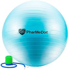 PharMeDoc Exercise Ball with Pump  Gym Quality AntiBurst NonSlip  Tone abs  Perfect for Physical Therapy Pilates Home Fitness Yoga Balance  Personal Training  Swiss  stability birth ** For more information, visit image link. (Note:Amazon affiliate link)