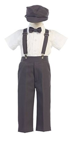 Amazon.com  Boys Suspender Pant Set with Hat  Clothing Pants Style 0871ddb7c3b3