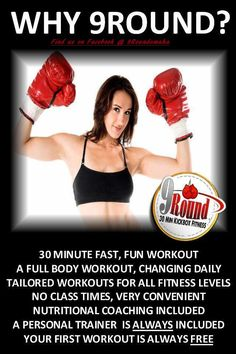 Best Workout!  First Workout is always FREE, find a 9Round near you and try it!