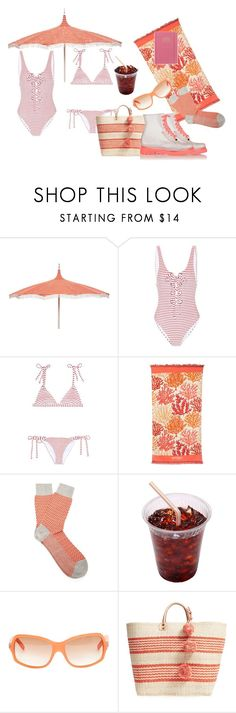 """""""Untitled #177"""" by earthspalette on Polyvore featuring Mara Hoffman, Spartina 449, Falke, Dolce&Gabbana, Mar y Sol and DESIGNWORKS INK"""