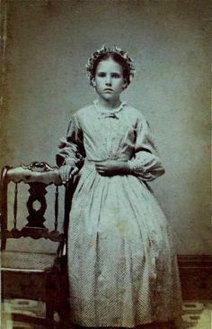 Emma, daughter of Dorman and Eliza Cortright, Albumen Carte de Visite, Circa 1864