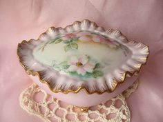 Cottage Chic Flower Porcelain Jewelry/Trinket by happybdaytome, $29.00