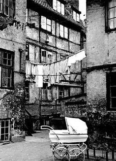 Backyard Dronningensgade Copenhagen 1968