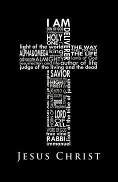 Names of Christ in cross formation