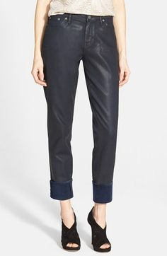 Dittos Coated Boyfriend Jeans (Navy Wax) available at #Nordstrom