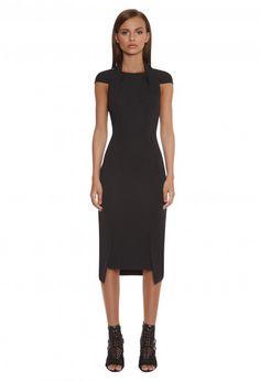 Hoven Cut Out Back Midi Dress in Black. Shop online at AQAQ.com