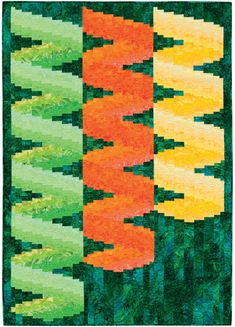 """""""Marmalade"""" from the book More Twist-and-Turn Bargello Quilts by Eileen Wright"""