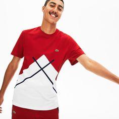 Lacoste Men's Made In France Jacquard Pique Crewneck T-Shirt Shirt Refashion, Lacoste Men, Pique Polo Shirt, Koh Tao, Made In France, Mens Fashion, Fashion Outfits, Check Shirt, Boys Shirts