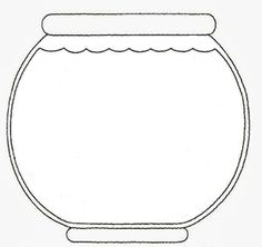 Outline aquarium coloring pages template 1 fish bowl here for Empty fish bowl coloring page