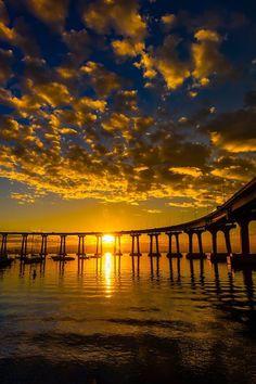 Coronado Bridge - Coronado Island, San Diego - Beautiful sunset