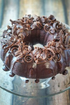 "Mayan Chocolate Glazed Bundt Cake. ""..The chocolate glaze on this cake is to.die.for. I could just eat that with a spoon. In fact, if you want to save some calories, maybe just skip the cake part & whip up a batch of glaze to drink with a straw. I'd imagine it's questionable (to say the least) that this is anything near an 'authentic' Mayan recipe, but it's got chocolate & cinnamon & cayenne, so let's just go with it."" from The Wanderlust Kitchen"